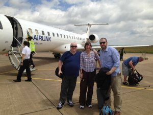 The Fingal Team Land in Maseru, Feb 2014